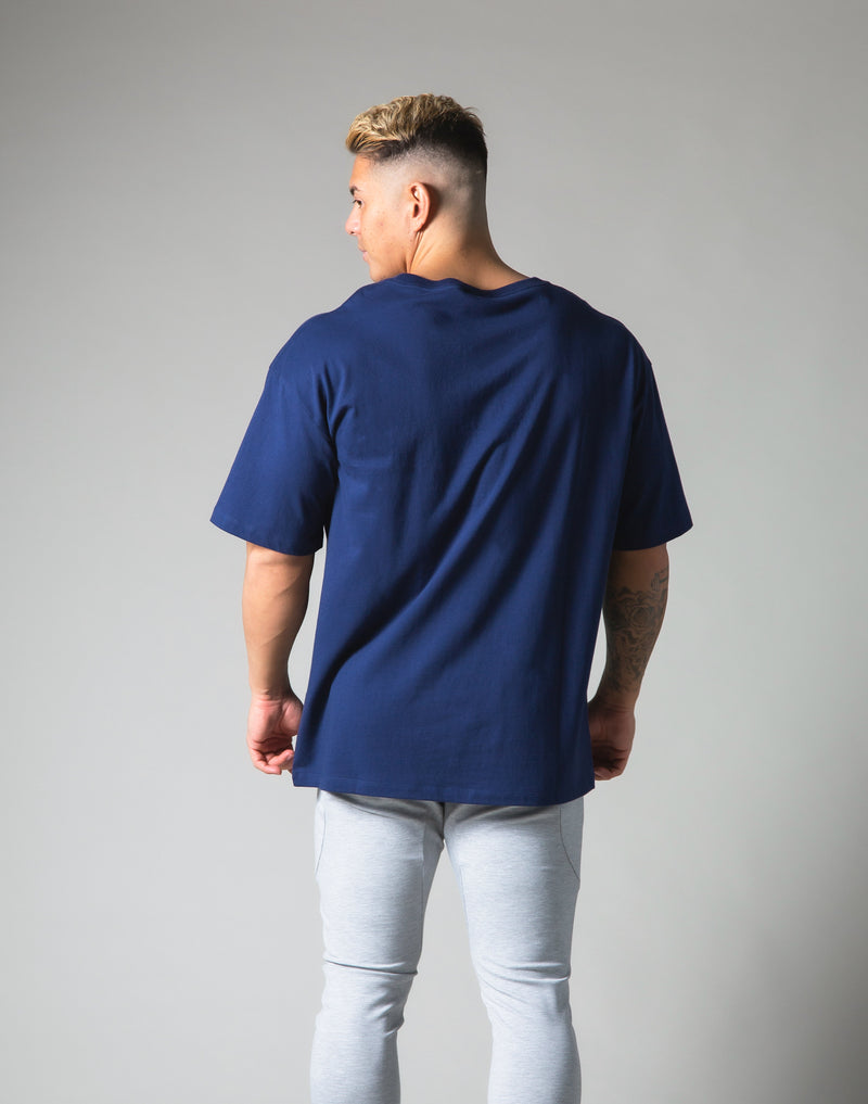 LÝFT Logo Big T-Shirt - Navy
