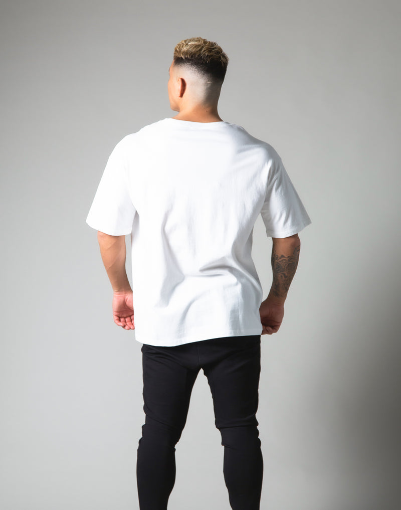 LÝFT Logo Big T-Shirt - White