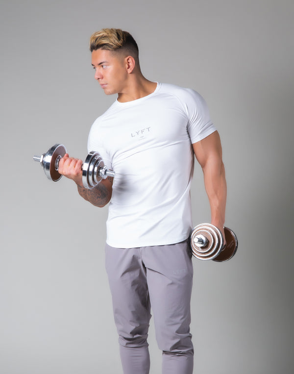 Slim Fit Raglan T-Shirt - White