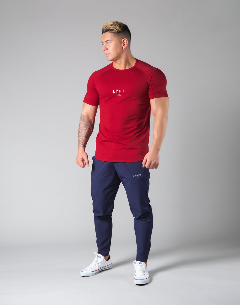 Slim Fit Raglan T-Shirt - Red