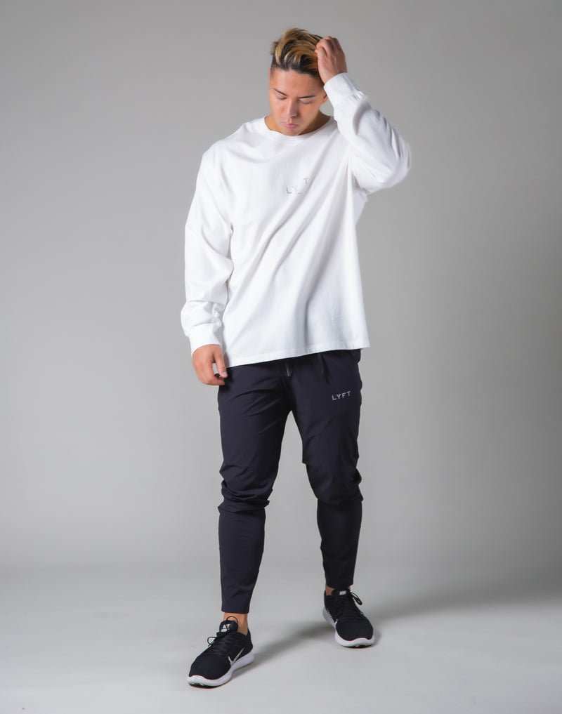 Silver Flag Long Sleeve T-Shirt - White