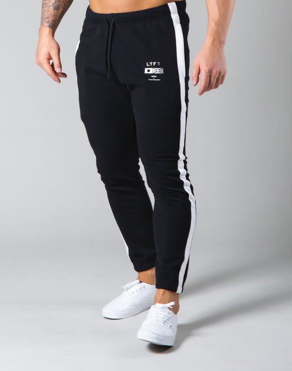 One Line Sweat Pants - Black