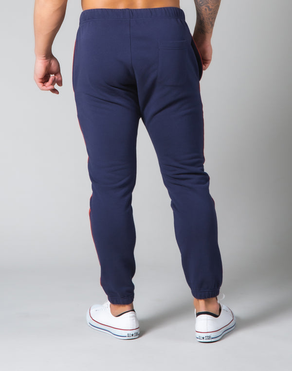 One Line Sweat Pants - Navy
