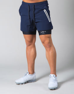 2Way Active Shorts / With Leggings - Navy