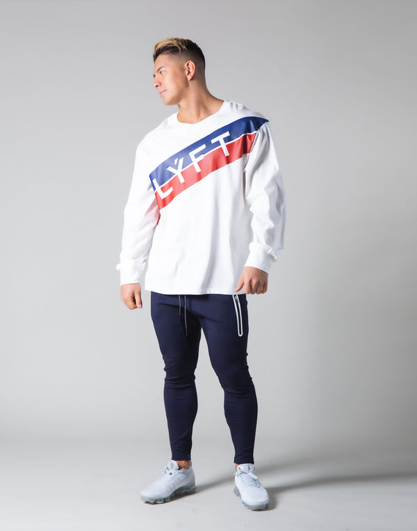 Stripe Long Sleeve T-Shirt - White