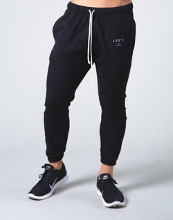 2way Stretch Warm Sweat Pants - Black