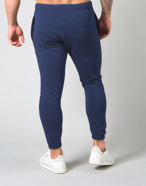 2way Stretch Warm Sweat Pants - Navy