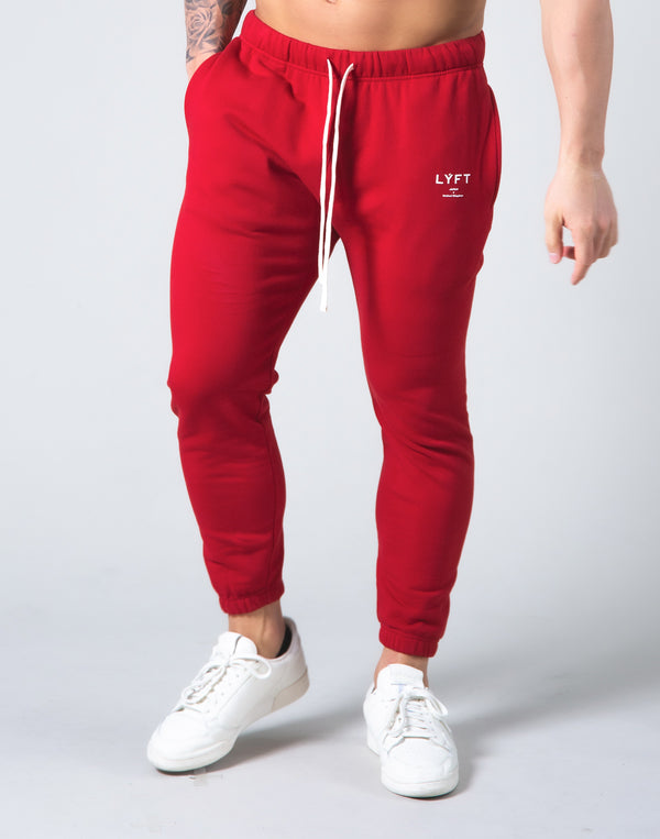 2way Stretch Warm Sweat Pants - Red