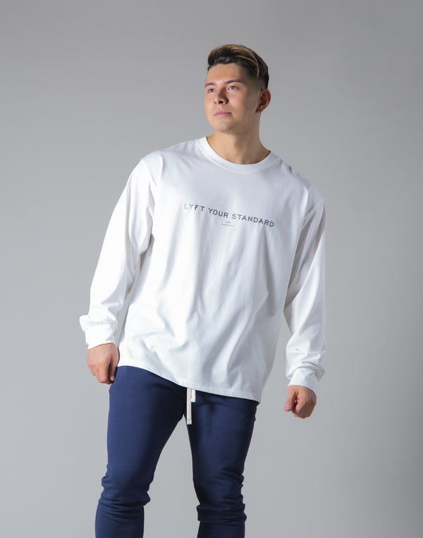 LÝS Message Print Long Sleeve T-Shirt - White