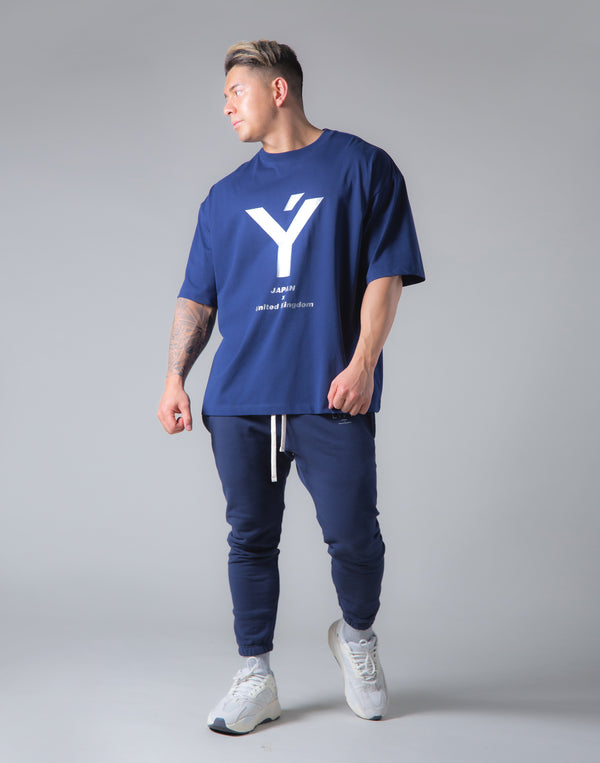 "Big Y Logo Big T-Sirt ""Wide Body"" - Navy"