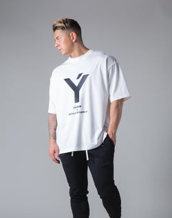 "Big Y Logo Big T-Sirt ""Wide Body"" - White"