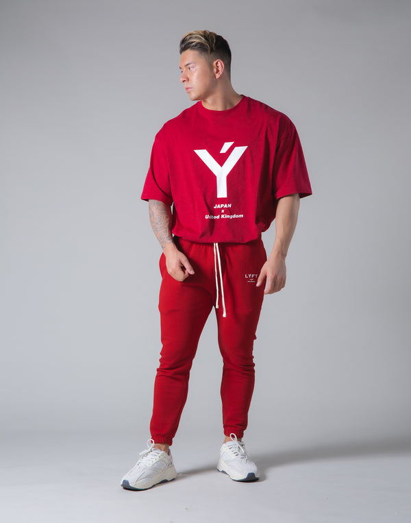 "Big Y Logo Big T-Sirt ""Wide Body"" - Red"