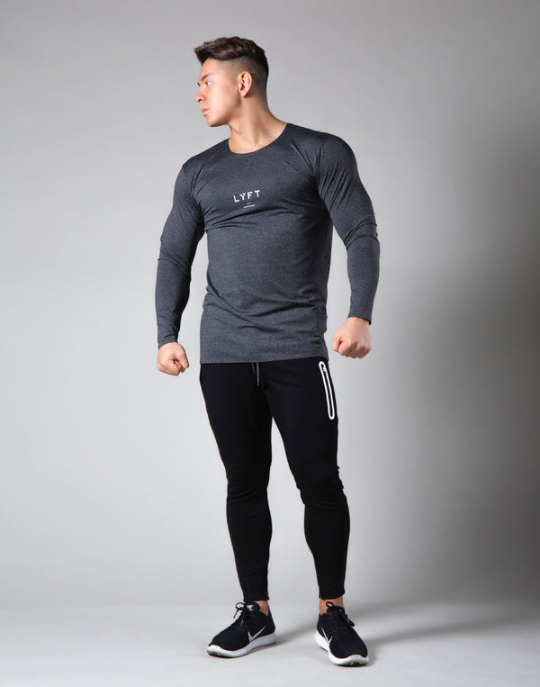 2Way Seamless Slim Fit Long Sleeve Tee - Dark Grey
