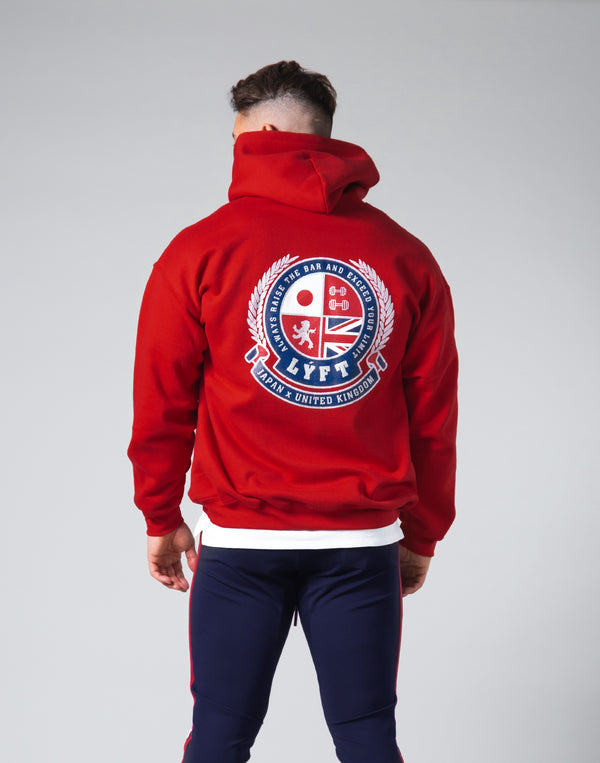 Symbolic Emblem Pullover Hoodie - Red