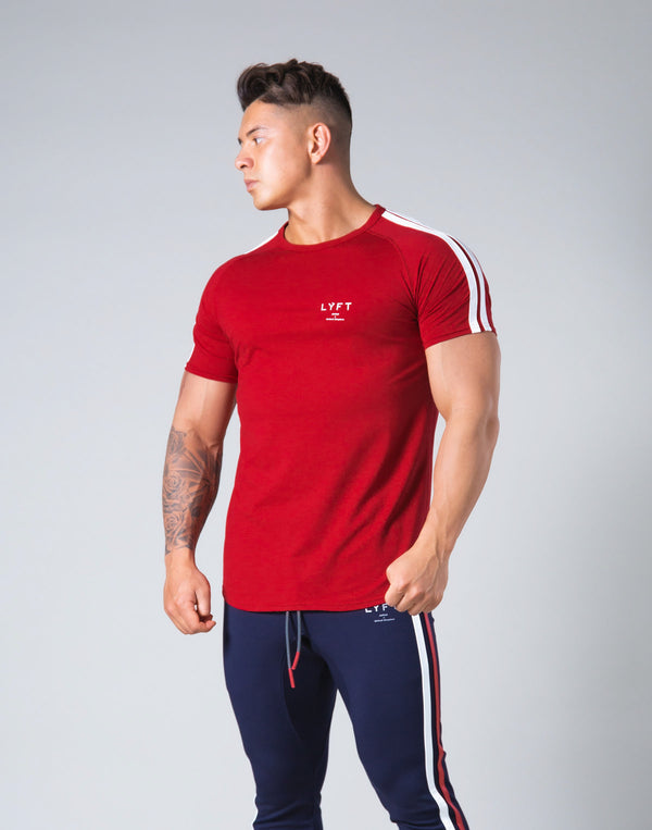 Slim Fit 2 Line T-Shirt - Red