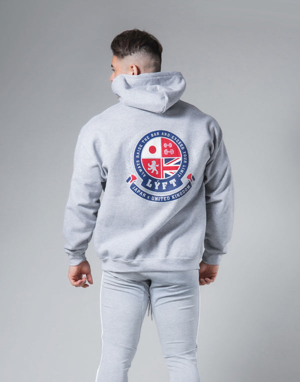 Symbolic Emblem Pullover Hoodie - Grey
