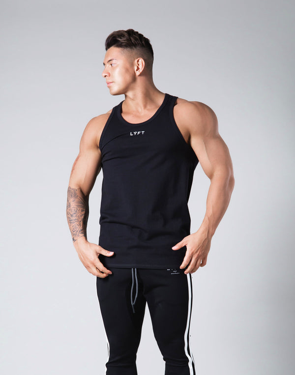Rear Patch Piping Tanktop - Black