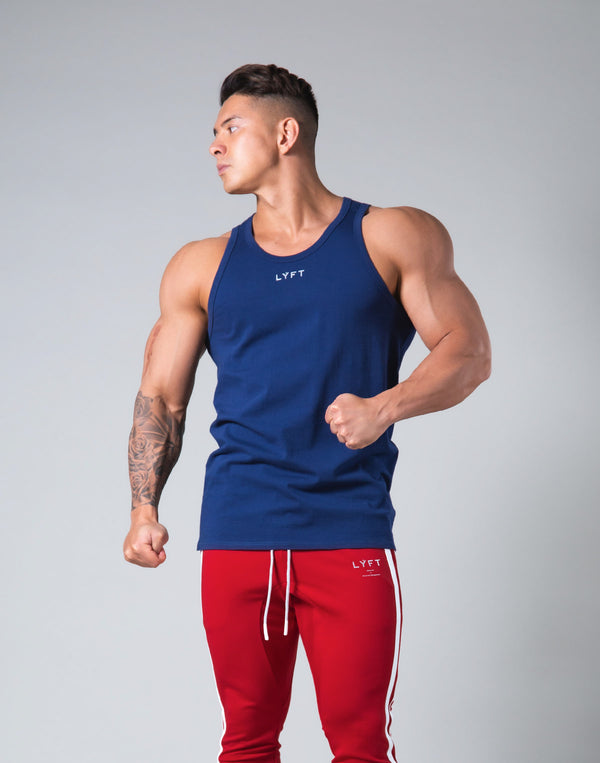 Rear Patch Piping Tanktop - Navy