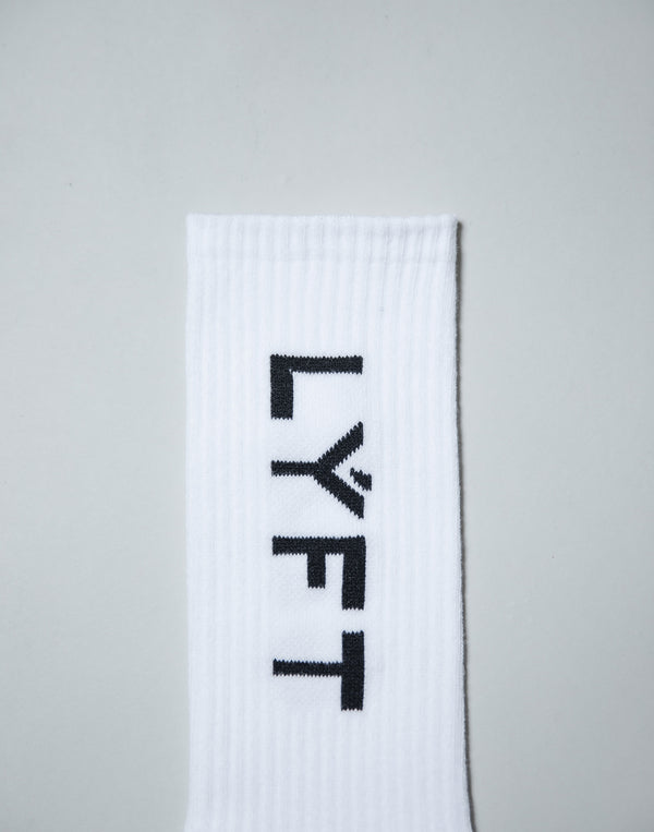 Side LÝFT Logo Socks - White