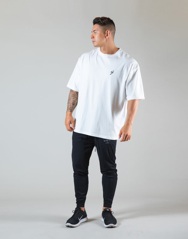 "Born To LYFT Back Print Big T-Shirt ""Wide Body"" - White"