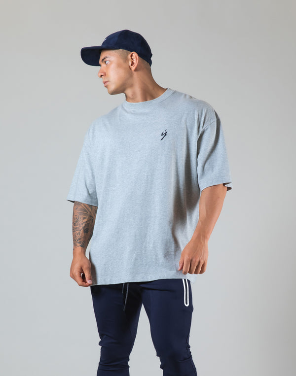 "Born To LYFT Back Print Big T-Shirt ""Wide Body"" - Grey"