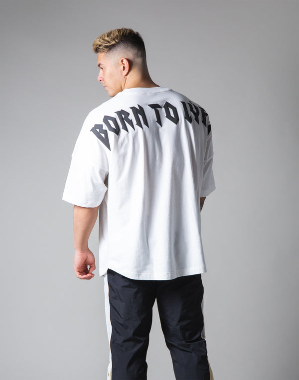"London Punk Big T-Shirt ""Wide Shoulder"" - White"