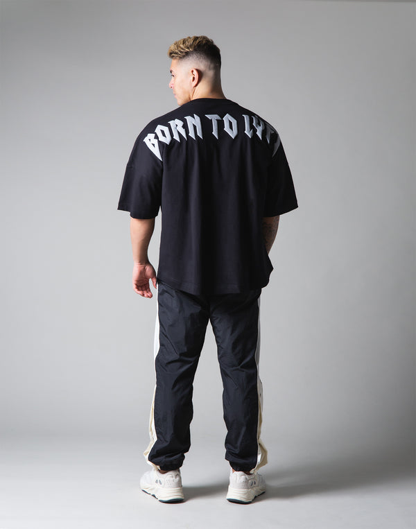 "London Punk Big T-Shirt ""Wide Shoulder"" - Black"