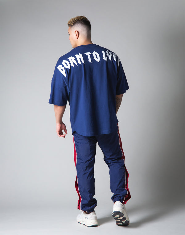 "London Punk Big T-Shirt ""Wide Shoulder"" - Navy"