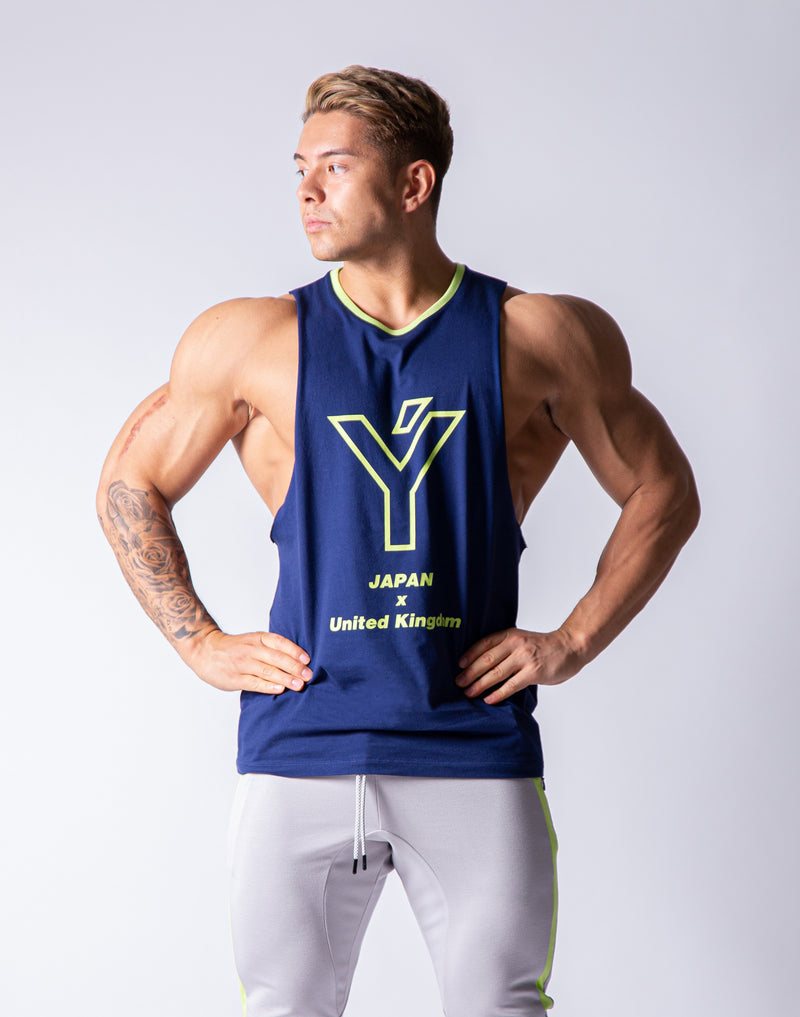 Drop Shoulder Tanktop - Navy