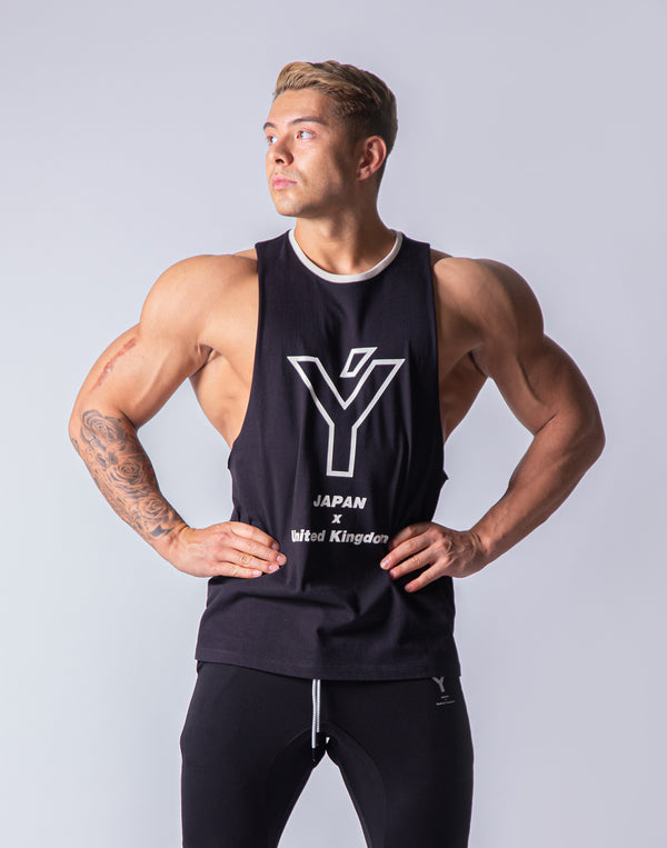 Drop Shoulder Tanktop - Black