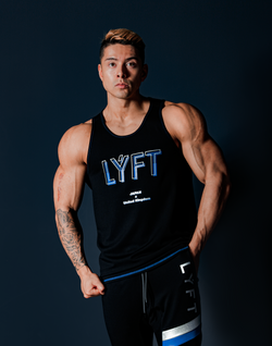 LÝFT Stripe Standard Fit Tanktop - Black