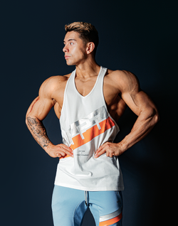 Stripe Training Tanktop - White