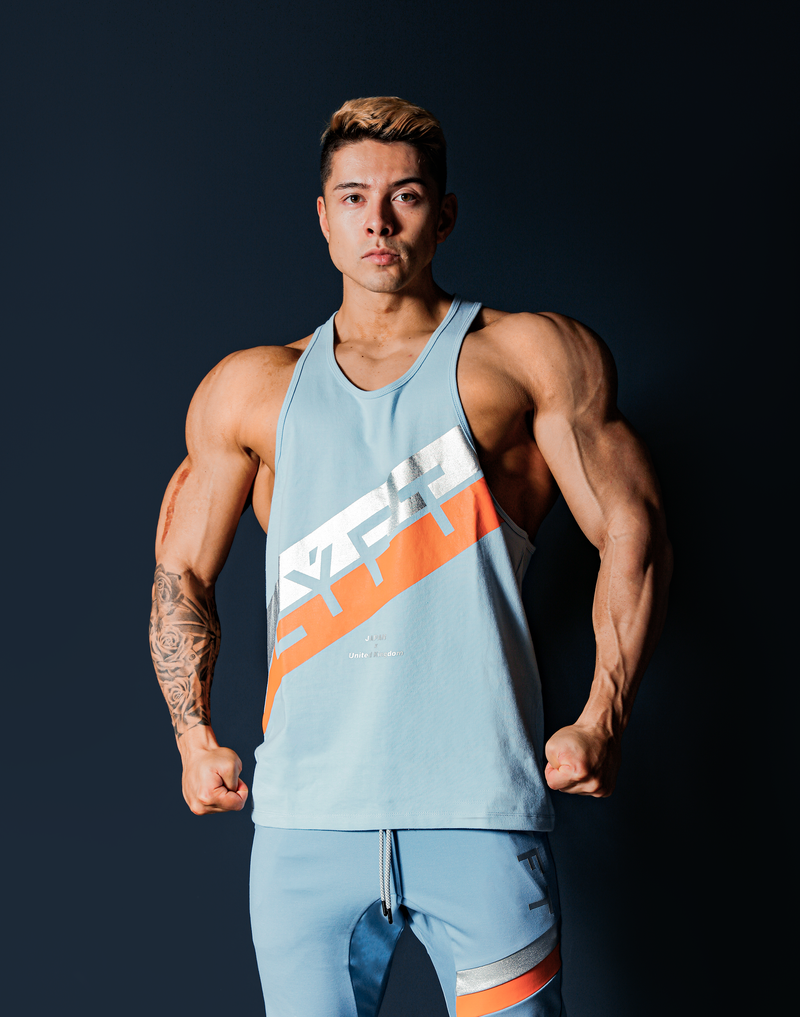 Stripe Training Tanktop - L.Blue