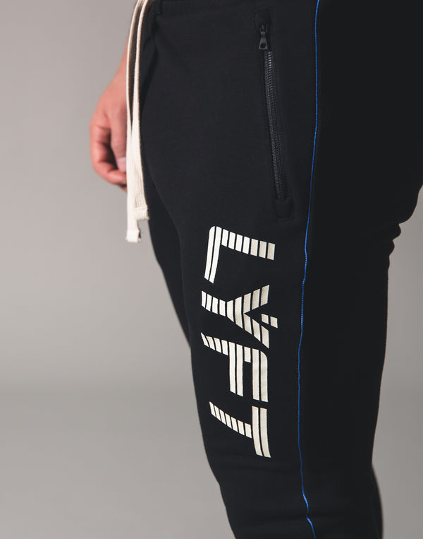 Piping Sweat Pants - Black