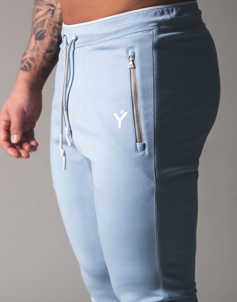 Piping 2Way Stretch Pants - L.Blue