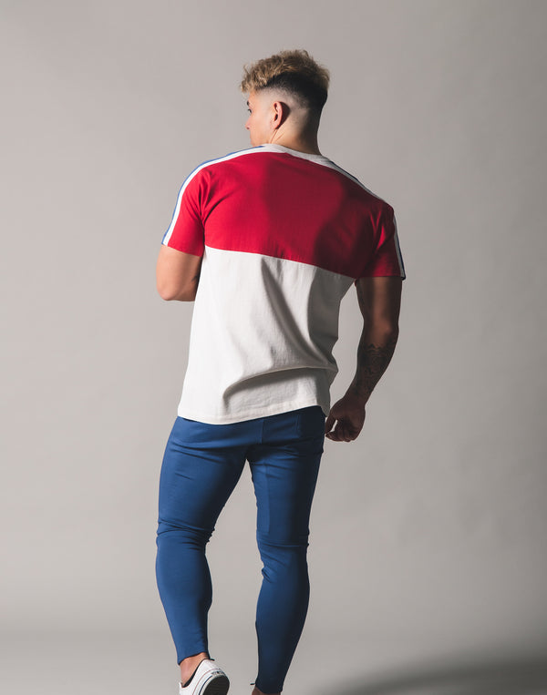 Mix Standard T-Shirt - Off White/Red