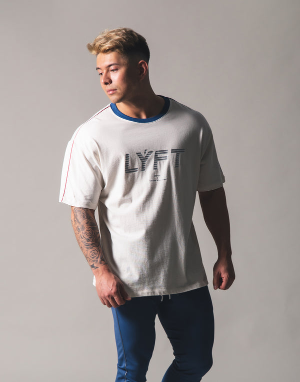 Piping Big T-Shirt - Off White