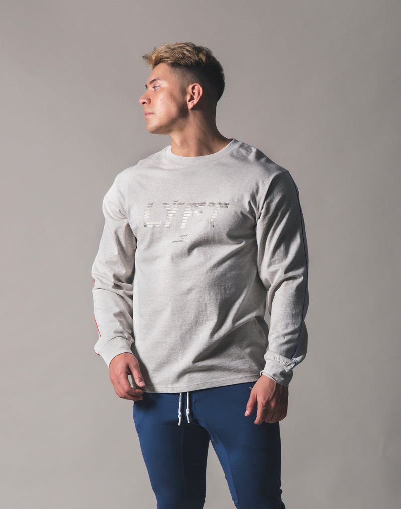 Piping Big Long T-Shirt - Grey
