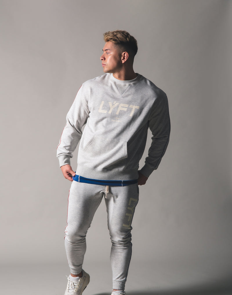 Piping Sweat Crew Neck - Grey