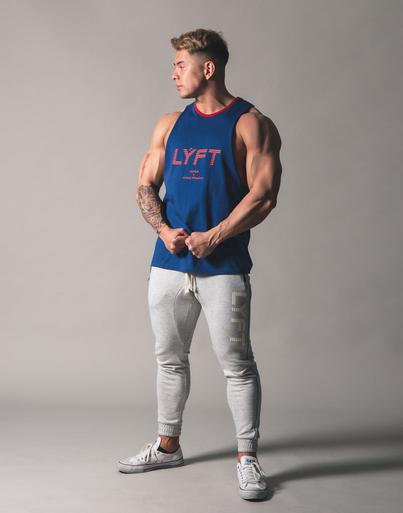 Drop Shoulder Tanktop - Blue