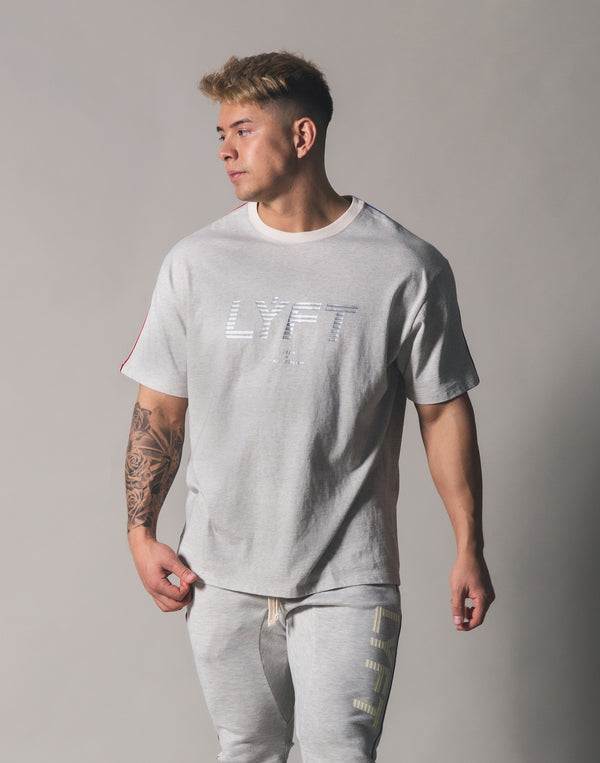 Piping Big T-Shirt - Grey