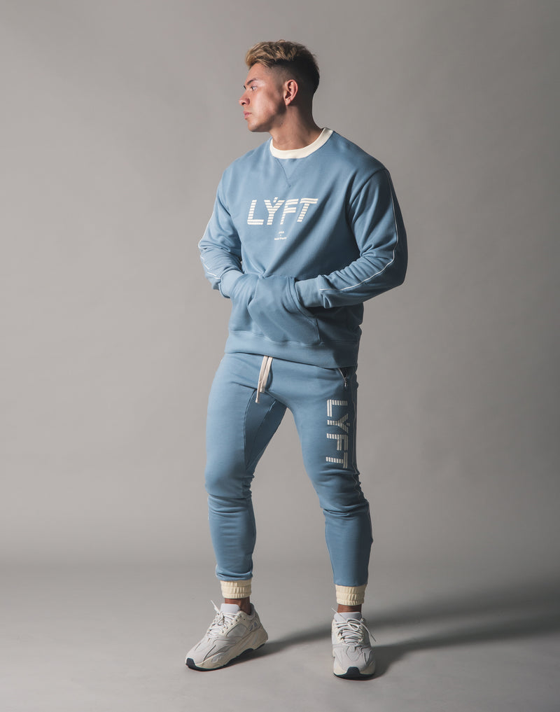 Piping Sweat Crew Neck - L.Blue