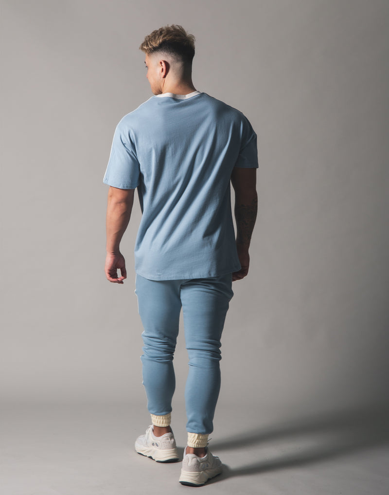 Piping Big T-Shirt - L.Blue