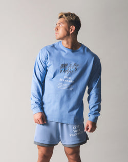 Metalic Logo Long T-Shirt - L.Blue