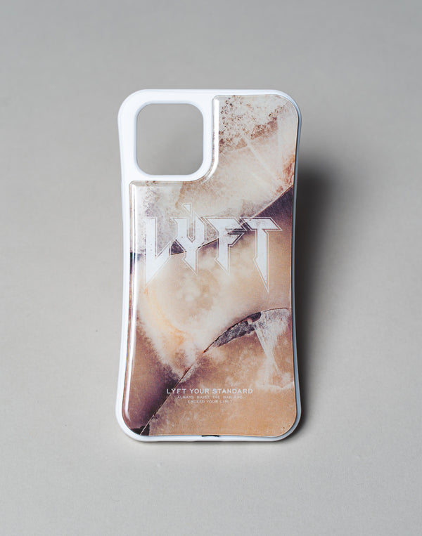 "LÝFT iPhone Case London Punk Logo - Ivory Stone ""予約商品"""