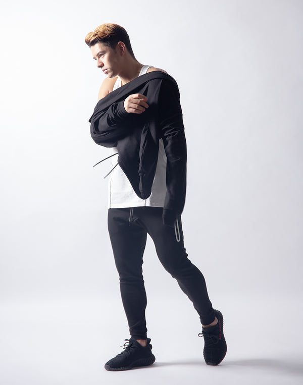 LÝFT 2way Stretch Pullover - Black