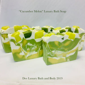 """Cucumber Melon""  Luxury Bath Soap"