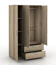 Load image into Gallery viewer, 3 Door + 2 Drawer Wardrobe Full Oak