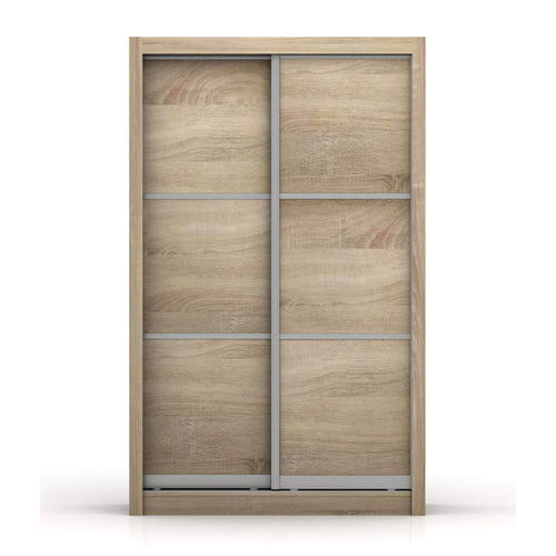 Sliding Wardrobe Aluminum Framed Oak