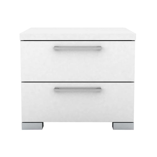 Gloss 2 Drawer Bedside